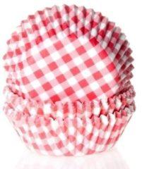 RØDE House of Marie Cupcake Vormpjes Ruit Rood - pk/50