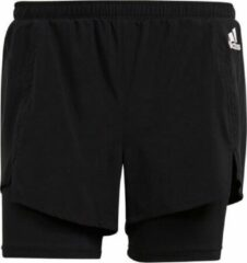 Zwarte Adidas High waist loose fit trainingsshorts met Aeroready
