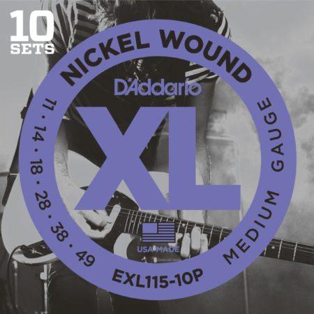 Afbeelding van D'Addario EXL115-10P 11-49 10er Set nikkel omwonden