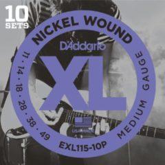 D'Addario EXL115-10P 11-49 10er Set nikkel omwonden