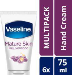Vaseline Hand Cream Mature Skin - 75ml - 6 stuks - voordeelverpakking
