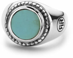 Rebel & Rose Rebel and Rose RR-RG014-S Ring Women Round Turquoise zilver-turquoise Maat 48