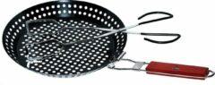 Roestvrijstalen El Fuego Grillpan met RVS barbecue tang