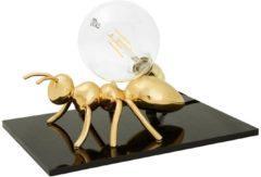 Emporium Lampada da tavolo Antlante 40x40xh20 cm soggetto formica in resina oro