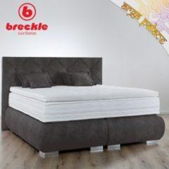 Breckle Boxspringbett Arga Palace 180x220 cm inkl. Gel-Topper Platin Premium & Kissenset
