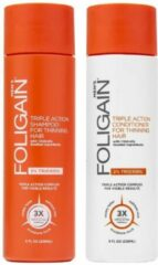 Foligain Shampoo & Conditioner Set Man