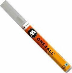 Licht-grijze Molotow ONE4ALL 2mm Acryl Marker - Lichtgrijs - Geschikt voor vele oppervlaktes zoals canvas, hout, steen, keramiek, plastic, glas, papier, leer...