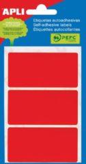 Rode Apli gekleurde etiketten in etui rood (2073)