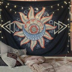 Rode Giftshop JR Zon en Maan Arrow Wandkleed - Wanddoek - Wandkleed - Mandala Kleed - 130x150CM