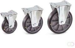 Fetra Bokwiel 125 x 38 mm, TPE-wielen elektrisch geleidend
