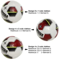 Rode Derbystar Classic TT Superlight - Voetbal - Multi Color - Maat 4 - 3 Vlakken - 286954-0000-SL/4