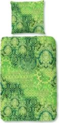 Zachte Katoen/Satijn Eenpersoons Dekbedovertrek Jenske Groen | 140x200/220 | Luxe En Comfortabel | Hoogwaardige Kwaliteit