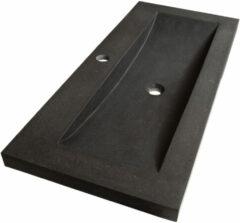 Sanituba Corestone wastafel basalt met kraangat 100cm