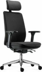 BenS 918HCr-Synchro-4 zwart Luxe ergonomische bureaustoel met Hoofdsteun Arbo Stoffen bekleding Volledig instelbaar