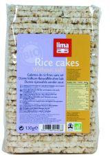 Lima Rijstwafels Zonder Zout Dun Recht (130g)