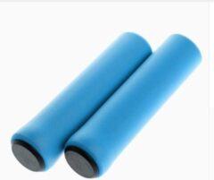 MTB Cycling MTB lichtgewicht soft GRIP handvatten 130mm SILICONE foam 35g LIGHTWEIGHT- Lichtblauw