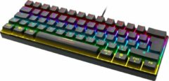 Zwarte Deltaco Gaming GAM-075-FR Mechanisch RGB verlicht gaming toetsenbord / keyboard 60% grootte, rode switches - France / Franse layout