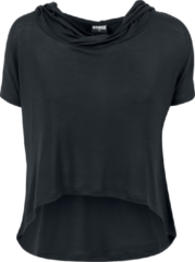 Urban Classics Ladies Short Viscose Hoodie Maglia donna nero