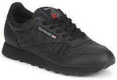 Zwarte Reebok Classics Leather Sneakers Heren - Int-Black - Maat 38.5