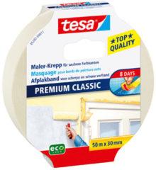 Creme witte Afplaktape/schilderstape 30 mm x 50 m - Verf afplakband/tape - Maskeertape - Tesa Masking tape