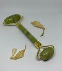 Groene Merkloos / Sans marque Jade Roller - Gezicht - Gua Sha - Rose Quartz - Gezichtsmassage