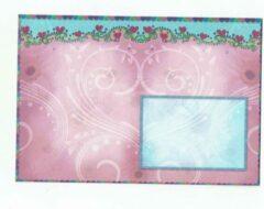 Merkloos / Sans marque Luxe Gekleurde Enveloppen - 100 stuks - Roze / hart - B6 175X120 mm - 100grms