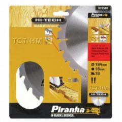 Black & Decker, Skil BLACK+DECKER Piranha Sägeblatt für Kreissäge, TCT/HM 184x16 mm K18 X15360-XJ