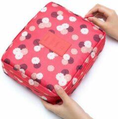 Marirosa Toilettas/Make-up tas Rood met bloemen - Beautycase - Reisartikelen - Vrouwen - Dames
