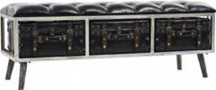Zwarte VidaXL Opslagbank 120x41x46,5 cm MDF en kunstleer