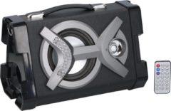 Grijze Dunlop Draadloze Speaker - Bluetooth - FM-radio - Draagbaar - 20 Watt - Zwart