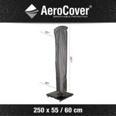 Antraciet-grijze Aerocover Parasolhoes 250 x 55/60 cm Hangparasol