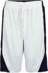 Marineblauwe Burned Dubbelzijdig Short Donkerblauw Wit XL