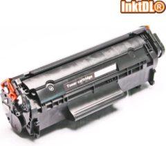 Zwarte INKTDL XL Laser toner cartridge voor HP Q2612A | Geschikt voor HP Laserjet 1010, 1012, 1015, 1018, 1020, 1022(NW), 1028, 3015, 3020, 3030, 3050, 3052, 3055, M1005(MFP), M1319(F)
