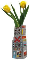 Vase Cat a Flower Artis Orbis - James Rizzi Goebel Bunt