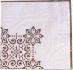 Gouden Witbaard Servetten 'Eid Mubarak' (33cm, 20st)