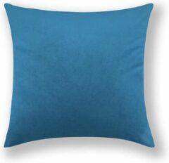 By Javy Kussenhoes Velvet Blauw - Kussenhoes - 45x45 cm - Sierkussen - Polyester - Fluweel