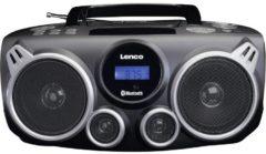 Zwarte Lenco SCD-100 - Draagbare Radio/CD-speler met Bluetooth en USB - Zwart
