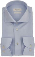 Profuomo Lichtblauw slim fit overhemd met wide spread-kraag