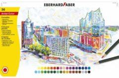 Kleurpotloden Eberhard Faber metaaletui a 36 stuks