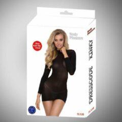 Zwarte Body Pleasure - Sexy Lingerie - super strakke uitdagende jurk - Tl135 - Sexy Mini Dress - Luxury Quality Dress - One size fits most - gave Cadeaubox