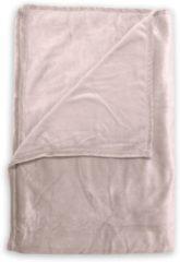 Huidskleurige Zo! Home ZoHome Cara Plaid - Fleece - 140x200 cm - Shell Nude