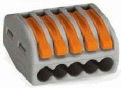 Grijze Elektrofix lasklem 5-voudig hersluitsluitbaar 15 st
