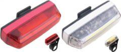 Witte Mighty Fietsverlichtingsset USB oplaadbaar 100 Lumen - Waterdicht - LED