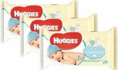 Huggies Billendoekjes Babydoekjes Pure bestekoop - 168 Stuks voordeelverpakking