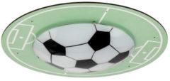 Groene EGLO Tabara - plafondlamp - E27 - motief voetbalveld