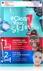 Grijze Eveline Cosmetics Clean Your Skin Scrub Sauna + Krio Mask 2x5ml.
