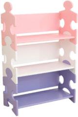 KidKraft Kinder boekenkast puzzel meerkleurig 62,7x29,5x97,2 cm 14415