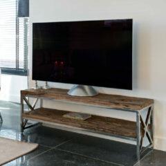 Richmond Interiors Richmond TV-meubel 'Kensington' RVS en Mangohout, 140cm