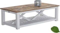 CLP Couchtisch PANTERA, 150x70 cm, Höhe 45 cm, massiv, Holztisch aus recyceltem Ulmenholz