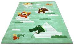 Lifestyle Kinderteppich Funny Animals Mintgrün Pergamon Grün